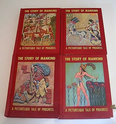 The Story of Mankind A Picturesque Tale of Progress 1-4 + Index jk120