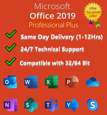 🔥 Microsoft Office 2019 PRO-PLUS - PRODUCT KEY - GENUINE - SAME DAY DELIVERY 🔥