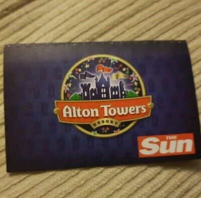 Alton Towers Tickets 14/7/19 - Sunday 14Th July 2019 (Not E.tickets)