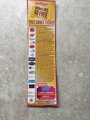 Kelloggs Grown Ups Go Free Voucher For Merlin Attractions Alton Towers Etc
