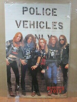Vintage Dangerous Toys 1990 poster hard rock band artist music 13029