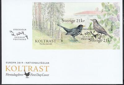 CEPT Sweden Schweden   2019 Used Bird FDC