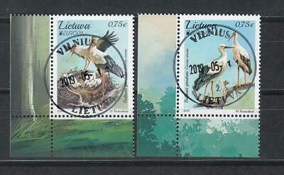 CEPT Litauen Lietuva   2019 Used o  Bird  set