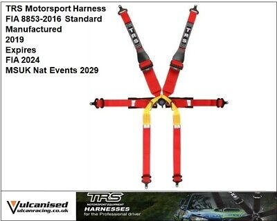 TRS 2019 Harness New Pro Hans Superlite 6 Point Single Seater FIA Approved - Red