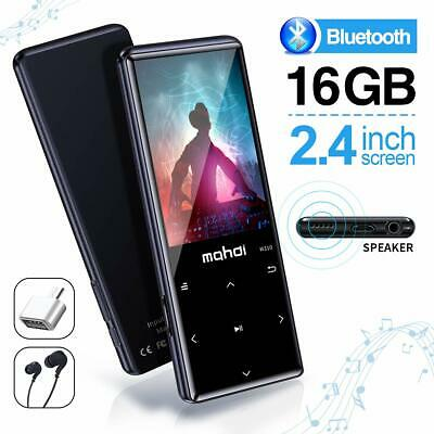 MYMAHDI MP3 Player Bluetooth 4.2 Touch Buttons 2.4in Screen 16GB FM Recorder