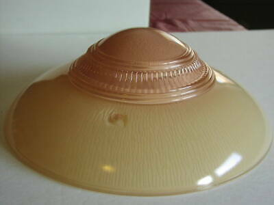 Antique PINK Art Deco Ceiling Light Fixture Lamp Shade Glass 3 hole 11 3/4""