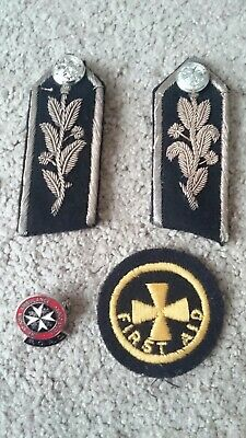 Selection Of St Johns Ambulance Badges & ww2 First Aid Badge