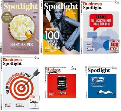 6 x Business+Spotlight Englisch Magazin+Grammatikheft +AUDIO-12+10+04/2018  OVP