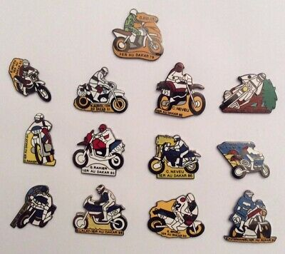 Lot 13 Pin's MOTO DAKAR 13 YEARS 79 /91 NEVEU AURIOL RAHIER ORIOLI PETERHANSEL