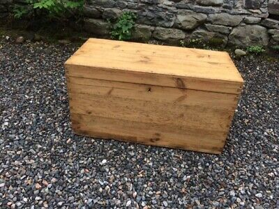 Rustic Victorian Pine Chest / Trunk / Box