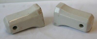Vintage Art Deco Toilet Paper Holder White Porcelain Wall Mount 1920's