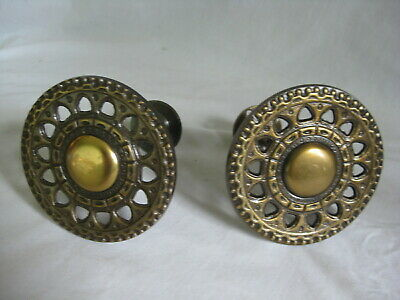 "ornate metal curtain tie backs 4"" diameter round curtains drapes wall mount hold"