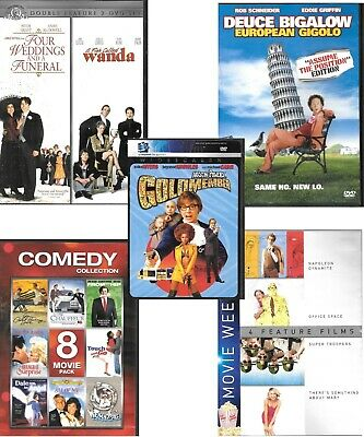 Comedy Dvd Lot 16 movies SOMETHING ABOUT MARY    A FISH CALLED WANDA ...