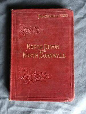 1904 Thorough Guide North Devon & North Cornwall all 21 maps 8th edition