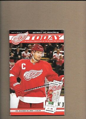 Detroit Red Wings v Montreal Canadiens programme 10th December 2010 **MINT**