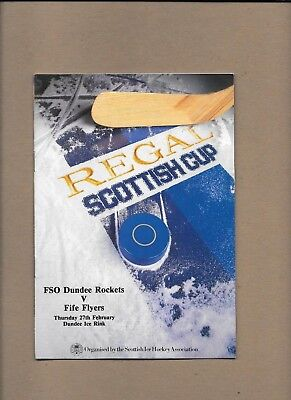 Dundee Rockets v Fife Flyers Programme  27th February 1986 ** MINT **