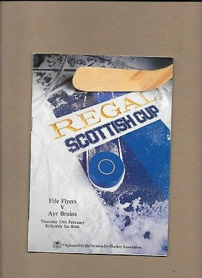 Fife Flyers v Ayr Bruins Programme  13th February 1986  **MINT**