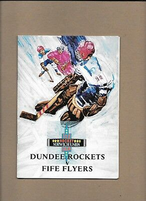 Dundee Rockets v Fife Flyers Programme  29th September 1985 ** MINT **