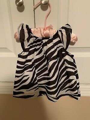 Burberry Baby Girls Zebra Print Shirt In Size 18 Months NEW With TAGS!!!
