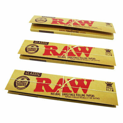 Raw King Size (3 Pack) rolling papers roller - hemp organic best quality