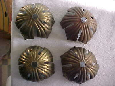 Art Nouveau Floral Brass Socket Covers Husks Table Lamp Light Fixture Parts