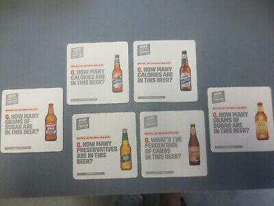"""set of 6 """"Beer Is Truth"""" LION Brewery Australian Issue collectable COASTERS"""