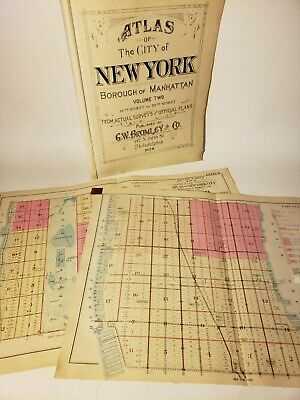 Manhattan Maps 1928 Rare Original Lg Sanborn Nyc Upper East & Westside Midtown