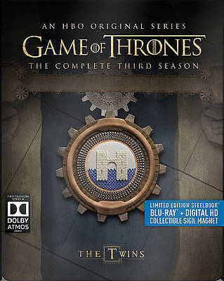Game of Thrones Season 3 - Steelbook Blu-Ray + Digital With Collectable Magnet