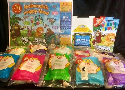 McDonalds Set of 10 TY Beanie Babies & Box with tray liner.2001 Australia.MIP