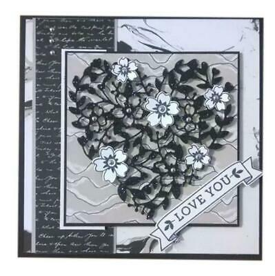 Flower Metal Cutting Dies Frame Scrapbooking Love Heart Lace Valentine Metal Die