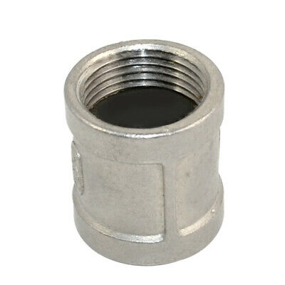 """1"""" Female x 1"""" NPT Female Couple Stainless Steel 304 Threaded Pipe Fitting"""