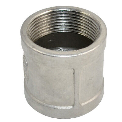 """1-1/2"""" Female x 1-1/2"""" NPT Female Couple Stainless Steel 304 Thread Pipe Fitting"""