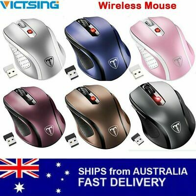 VicTsing 2.4G Wireless Portable Optical Mouse Mice Adjustable DPI For PC Laptop