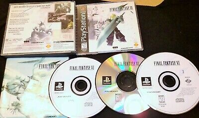 Platinum final Fantasy Lx Beautiful Final Fantasy Vii sony Playstation 1, rare sony