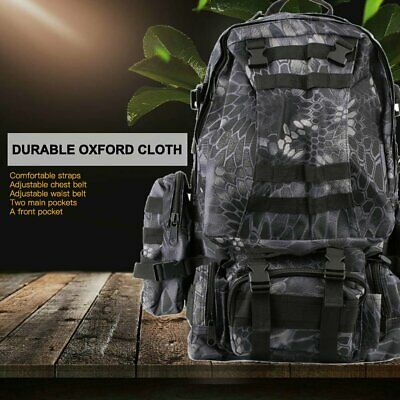 55L Outdoor Military Molle Tactical Backpack Rucksack Camping Travel Hiking Bag