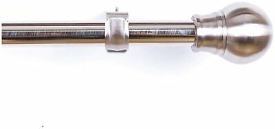 Argos Home Extendable Eyelet Curtain Pole - Stainless Steel