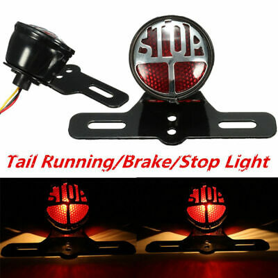 Retro Universal   Motorcycle Stop Brake/Running Tail Light Rear Taillight 12V