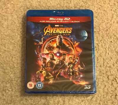 *NEW* AVENGERS: INFINITY WAR 3D / 2D Blu-ray - SHIPS FROM US SELLER *SEALED*