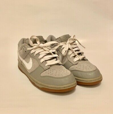 sports shoes f51ed ba743 Men s Nike Dunk Low CL - Grey   White Size 10  Pre-Owned
