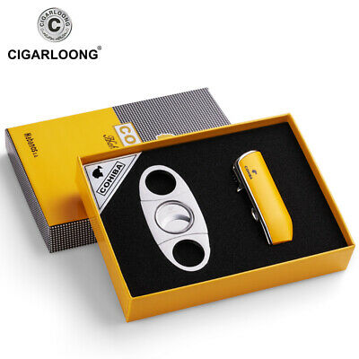 for cohiba Cigar Lighter Set with Stainless Cigar Cutter Cigar Gift Set CL-TZ009