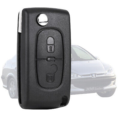 2 Button Remote Flip Key Fob Case Shell Blade For PEUGEOT 207 307 308 & 407