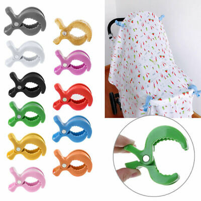 Baby Car Seat Accessories Toys Stroller Peg To Hook Cover Blanket Clip 11 Colors