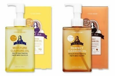 [Etude House]Real+Art+Cleansing+Oil+Moisture OR Deep Perfect+185ml+Foam Cleanser