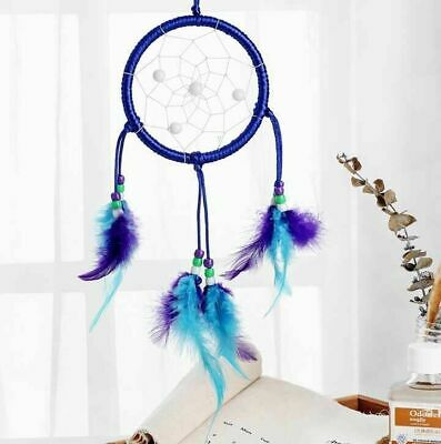 """Dream Catcher Large Blue Wall Hanging Home Decoration Ornament Feathers 15 """""""
