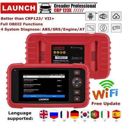 Launch X431 CRP123X OBD2 Diagnosegeräte Scanner Motor ABS Airbag Codeleser WIFI