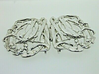 Vintage Sterling Silver Bird Belt Buckle Nurses 1995 Art Nouveau design 95.1g