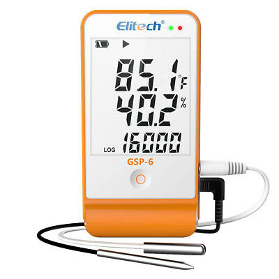 Elitech GSP-6 Temperature Humidity Data Logger Recorder Refrigeration Chain USB