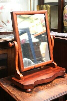 Antique Victorian Mahogany Dressing Table Mirror - FREE Shipping [5204]