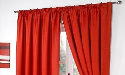 Dreamscene Luxury Ring Top Fully Lined Pair Thermal Blackout Eyelet Curtains wit