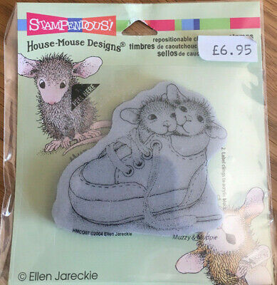 Stampendous House Mouse Cling Stamp - Cling Shoe Babies HMCQ07